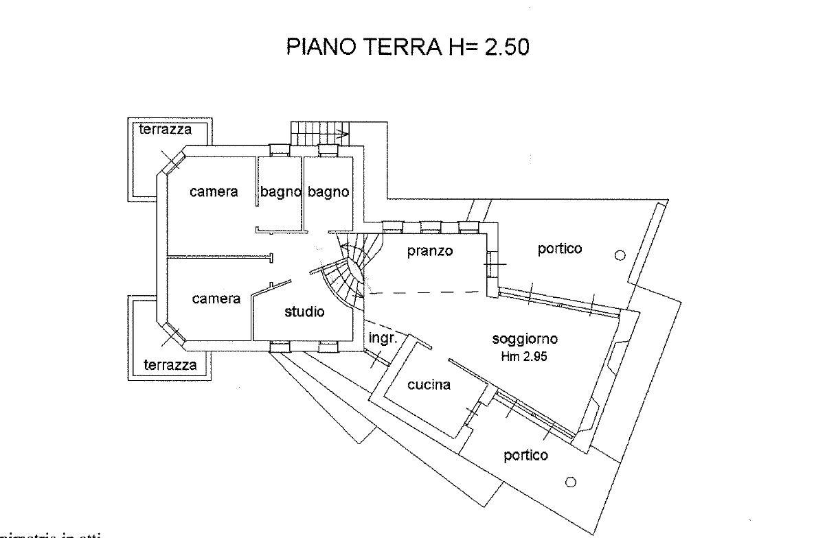1192 villa singola tutta su un piano vicino al mare for Piano aperto su due livelli